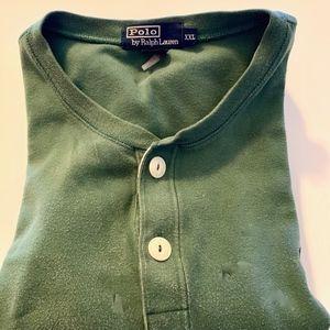 Polo 3/4 quarter button up pullover